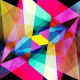 Abstract watercolor geometric background Royalty Free Stock Photo