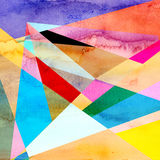 Abstract watercolor geometric background Stock Images
