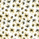 Abstract watercolor golden and black flowers seamless pattern Royalty Free Stock Photos