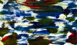 Abstract watercolor gouache strokes background vector illustration