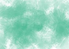 Abstract watercolor green background on white paper stock illustration