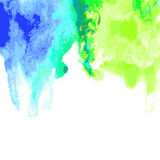 Abstract watercolor hand drawn background. Vector illustration. Stock Images