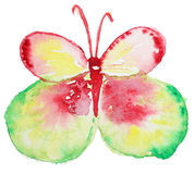 Abstract Watercolor hand drawn butterfly. Abstract Watercolor hand drawn colorfyl butterfly. Hand painted watercolor butterfly in Hires.  Perfect for wedding Royalty Free Stock Photography