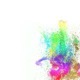 Abstract watercolor hand painted background. Isolated on white Stock Photo