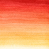 Abstract watercolor hand painted background. Autumn gradient from red to yellow color stock illustration