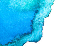 Abstract watercolor hand painted background. Abstract blue watercolor hand painted background Royalty Free Stock Photos