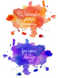 Abstract watercolor hand painted background in different colors. Multicolor watercolor splash Royalty Free Stock Photography