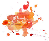 Abstract watercolor hand painted background in different colors. Multicolor watercolor splash Vector Illustration