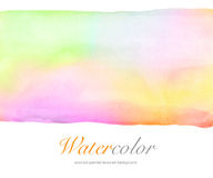 Abstract watercolor hand painted background. Stock Image