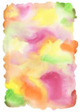 Abstract watercolor hand painted background. stock photography
