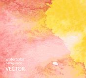 Abstract watercolor hand painted background Stock Photography