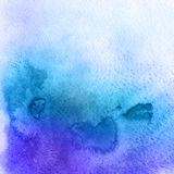 Abstract watercolor hand painted background. Watercolour stain gradient texture in blue colors Stock Photos