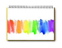 Abstract watercolor hand painted on book Royalty Free Stock Images