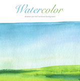 Abstract watercolor hand painted landscape background. Stock Photos