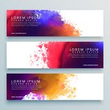 Abstract watercolor header banner design. Vector royalty free illustration