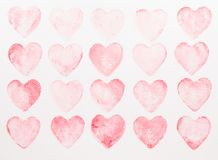 Abstract watercolor heart background. Concept love, valentine day greeting card royalty free stock photo
