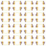 Abstract watercolor illustration of bright multicolor dandelions isolated on white background.Seamless pattern stock illustration