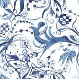 Abstract Watercolor Indigo Pattern Royalty Free Stock Photos