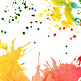 Abstract watercolor, ink splashes Royalty Free Stock Image
