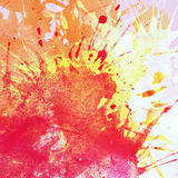 Abstract watercolor, ink splashes Stock Image