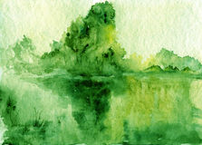 Free Abstract Watercolor Landscape Royalty Free Stock Image - 58788106
