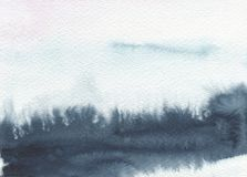 Abstract watercolor landscape blot painted background. Texture paper royalty free stock image