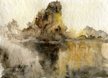 Abstract watercolor landscape Royalty Free Stock Photos