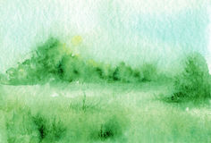 Abstract watercolor landscape Stock Images
