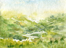 Abstract watercolor landscape Royalty Free Stock Images