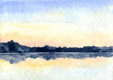Abstract watercolor landscape Royalty Free Stock Image