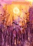 Abstract watercolor landscape Stock Photography