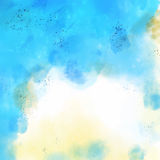Abstract Watercolor Light Blue on Old Paper Vector. Art Stock Images