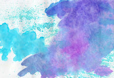 Abstract watercolor   multicolored  background Royalty Free Stock Photography