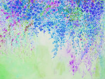 Abstract watercolor original painting purple,pink color Royalty Free Stock Photo