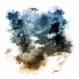 Abstract watercolor paint. On white background Royalty Free Stock Photo
