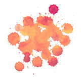 Abstract watercolor paint aquarelle hand drawn colorful splatter stain Royalty Free Stock Photography