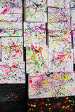 Abstract watercolor paint splash Royalty Free Stock Photos