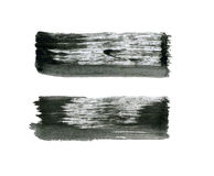 Abstract watercolor paintbrush lines for your project Stock Images