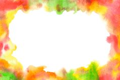 Abstract watercolor painted autumn background. Colorful paint drops stock illustration