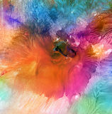 Abstract watercolor painted background. stock illustration