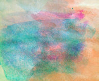 Abstract watercolor painted background with details Royalty Free Stock Photo