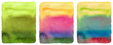 Abstract watercolor painted background. Grunge wet paper template. Collection. Isolated Stock Photos