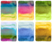 Abstract watercolor painted background. Grunge wet paper template. Collection. Isolated Royalty Free Stock Image
