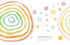 Abstract watercolor painted background. Isolated. Royalty Free Stock Images