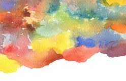 Abstract watercolor painted background. Paper texture. Isolated royalty free stock image