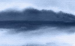 Abstract watercolor painted background. Texture paper. Abstract watercolor brush strokes painted background. Texture paper. Blue indigo tone stock images