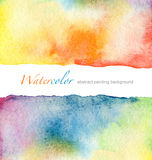 Abstract watercolor painted background. Abstract watercolor textured painted background Stock Images