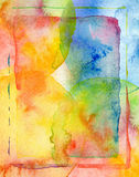 Abstract watercolor painted background Stock Photography