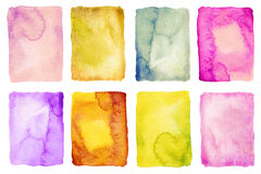 Abstract watercolor painted backgrounds Stock Image