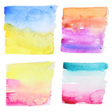 Abstract watercolor painted backgrounds Stock Photos